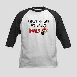 No Life Daddy Bowls Kids Baseball Jersey