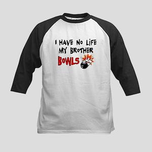 No Life Brother Bowls Kids Baseball Jersey