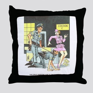 NAUGHTY CARTOON Throw Pillow