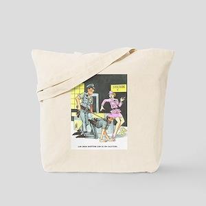 NAUGHTY CARTOON Tote Bag