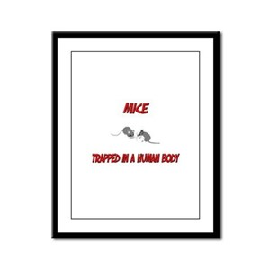 Mice trapped in a human body Framed Panel Print