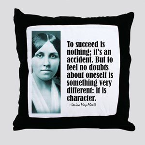 """Alcott """"To Succeed"""" Throw Pillow"""