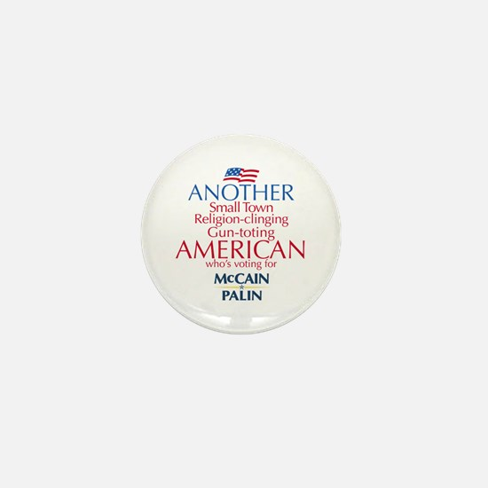 Small Town American for McCain Palin Mini Button