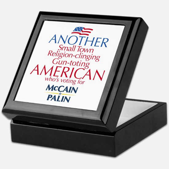 Small Town American for McCain Palin Keepsake Box