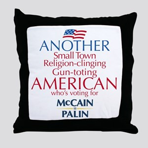 Small Town American for McCain Palin Throw Pillow