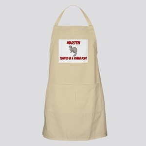 Marten trapped in a human body BBQ Apron