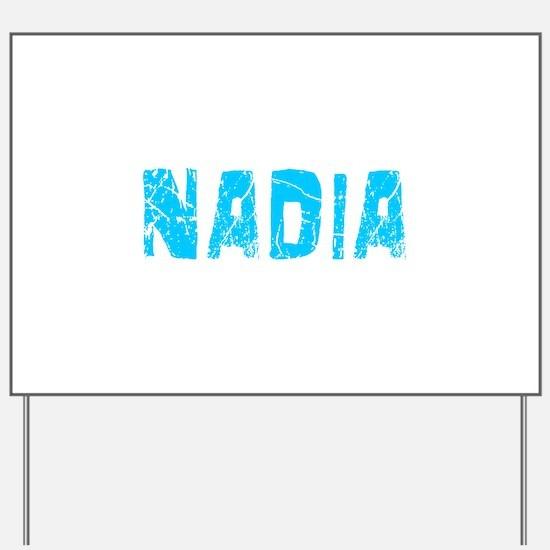 Nadia Faded (Blue) Yard Sign