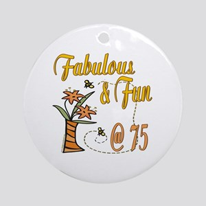 Floral 75th Ornament (Round)
