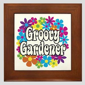 Groovy Gardener Framed Tile