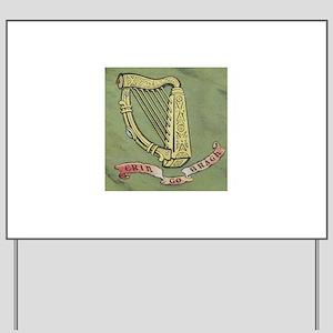 Gold Harp Erin Go Bragh Yard Sign