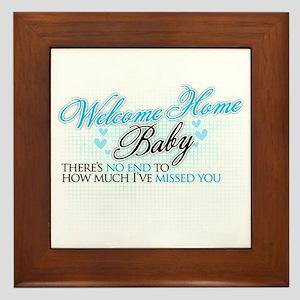 Welcome Home Baby Framed Tile
