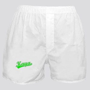 Retro Kaya (Green) Boxer Shorts
