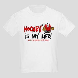 Hockey is my life -goalie Kids Light T-Shirt