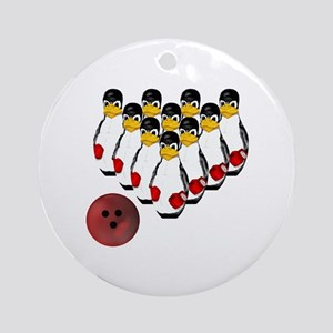 Tux - Linux Bowling Pins Keepsake (Round)