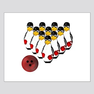 Tux - Linux Bowling Pins Small Poster