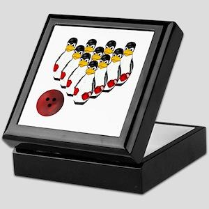 Tux - Linux Bowling Pins Keepsake Box