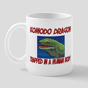 Komodo Dragon trapped in a human body Mug