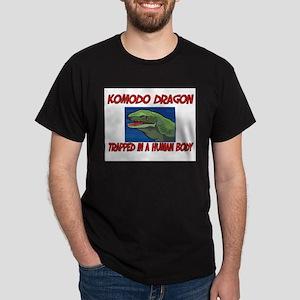 Komodo Dragon trapped in a human body Dark T-Shirt