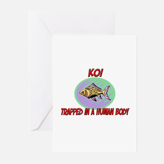 Koi trapped in a human body Greeting Cards (Pk of
