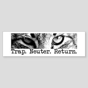 Trap. Neuter. Return. Cat Eye Bumper Sticker