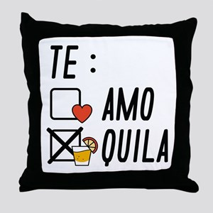 Te AmoTe Quila Throw Pillow
