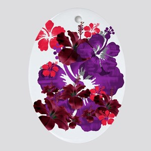 Hibiscus Oval Ornament