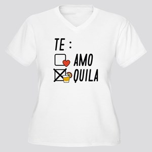 Te AmoTe Quila Women's Plus Size V-Neck T-Shirt