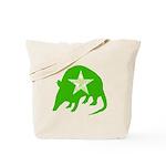 Green Armadillo Reusable Texas Tote Bag