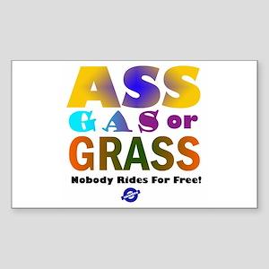 Ass, Gas or Grass Rectangle Sticker