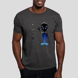 Alien Peace Dude 2 Dark T-Shirt