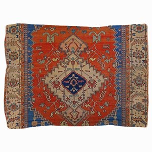 Antique Persian Bakshaish Oriental Rug Pillow Sham