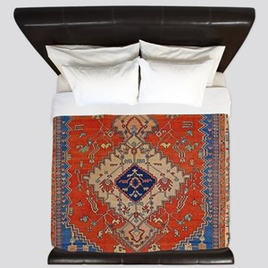 Antique Persian Bakshaish Oriental Rug King Duvet