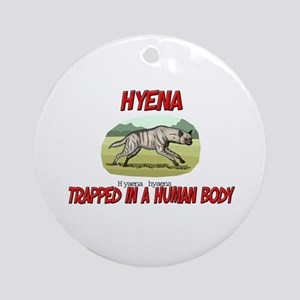 Hyena trapped in a human body Ornament (Round)
