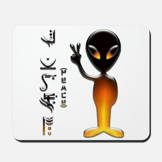 Alien Peace Dude 3 Mousepad