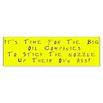Protest High Gas Prices Bumper Sticker