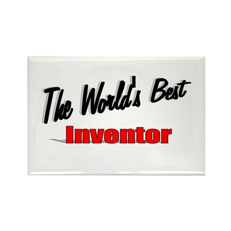 """""""The World's Best Inventor"""" Rectangle Magnet (10 p"""