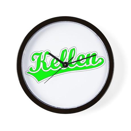 Retro Kellen (Green) Wall Clock