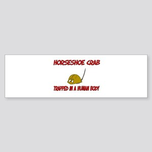 Horseshoe Crab trapped in a human body Sticker (Bu