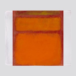 ROTHKO IN RED ORANGE Throw Blanket