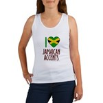 I love Jamaican Accents Women's Tank Top