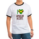 I love Jamaican Accents Ringer T