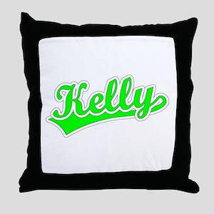 Retro Kelly (Green) Throw Pillow