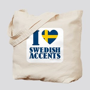 I love Swedish Accents Tote Bag