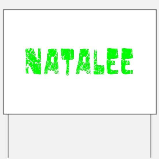 Natalee Faded (Green) Yard Sign