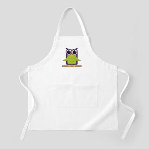 Purple Owl on Branch BBQ Apron