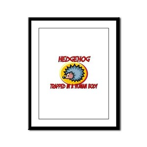 Hedgehog trapped in a human body Framed Panel Prin