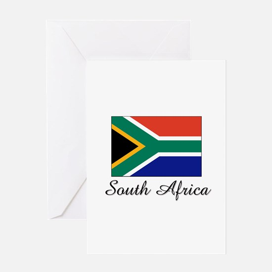 South Africa Flag Greeting Card