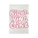 Right-Wing Girl Rectangle Magnet (10 pack)