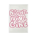 Right-Wing Girl Rectangle Magnet