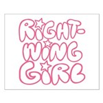 Right-Wing Girl Small Poster
